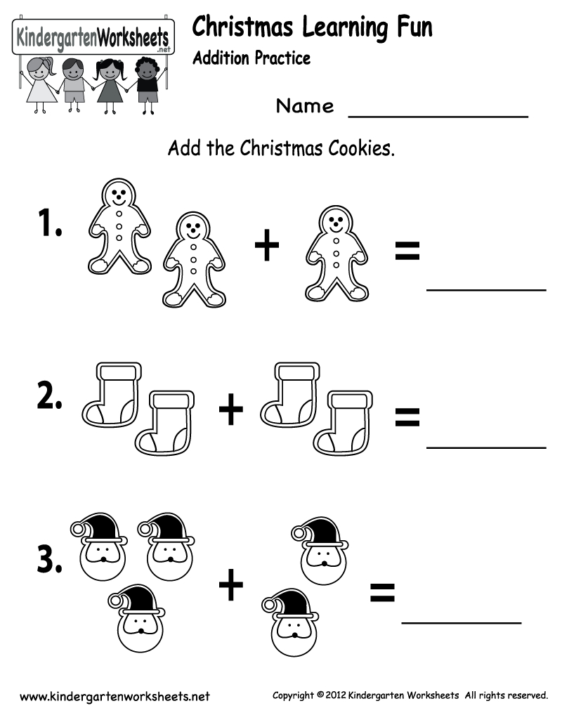 Free Printable Holiday Worksheets | Free Christmas Cookies Worksheet - Free Printable Christmas Worksheets For Kids