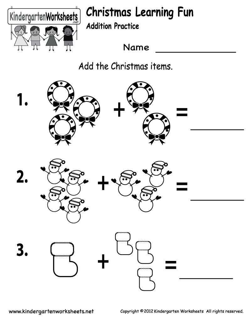 Free Printable Holiday Worksheets   Free Printable Kindergarten - Christmas Fun Worksheets Printable Free