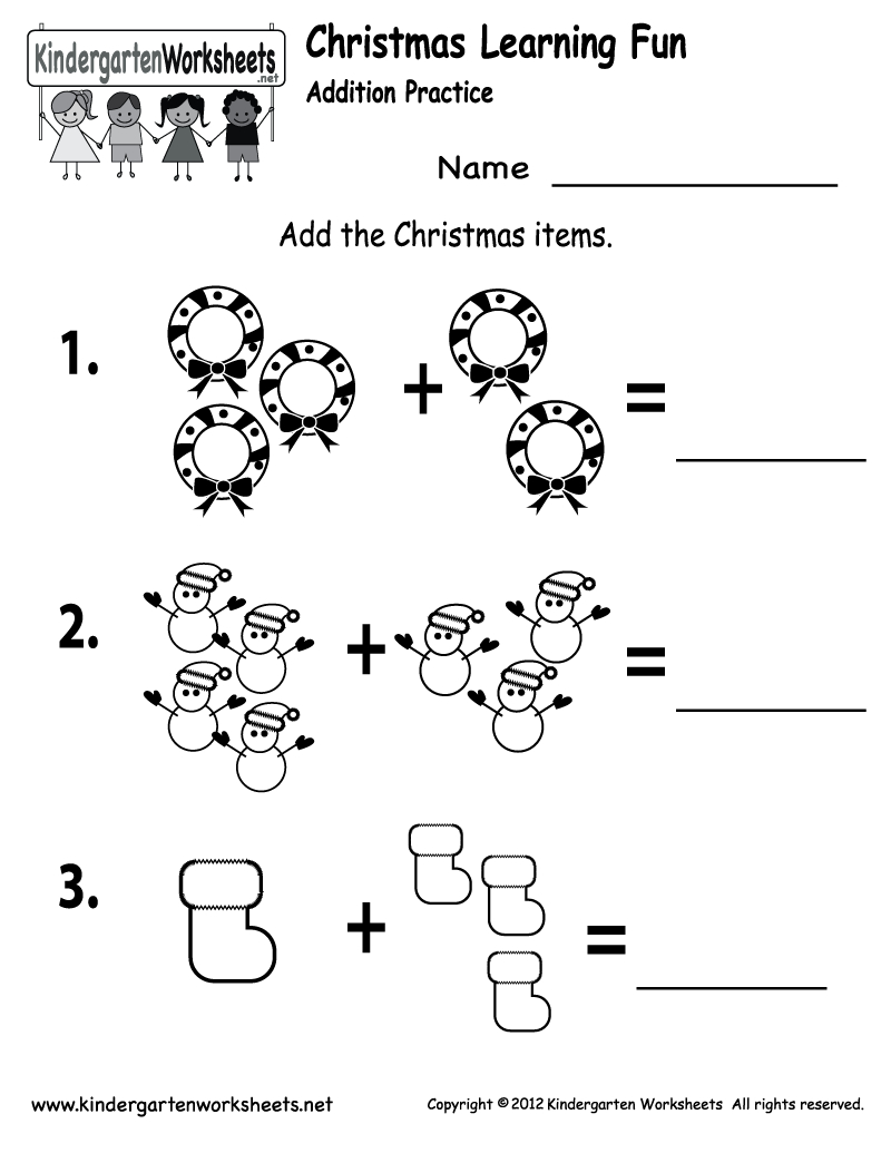 Free Printable Holiday Worksheets | Free Printable Kindergarten - Free Printable Christmas Worksheets