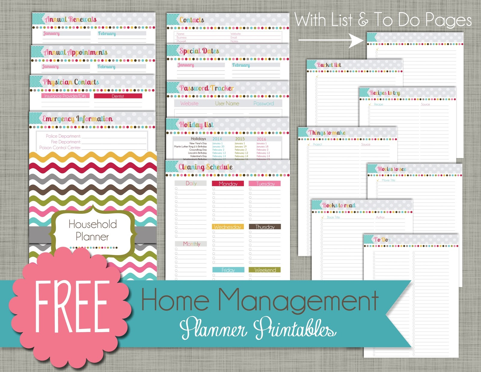 Free Printable Home Organizer Notebook | Download Them Or Print - Free Printable Home Organizer Notebook