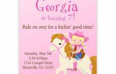 Free Printable Horse Themed Birthday Party Invitations