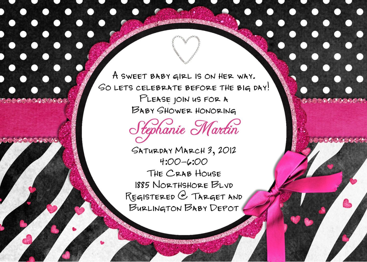 Free Printable Hot Pink Zebra Invitations | Free Printable Zebra - Free Printable Zebra Print Birthday Invitations