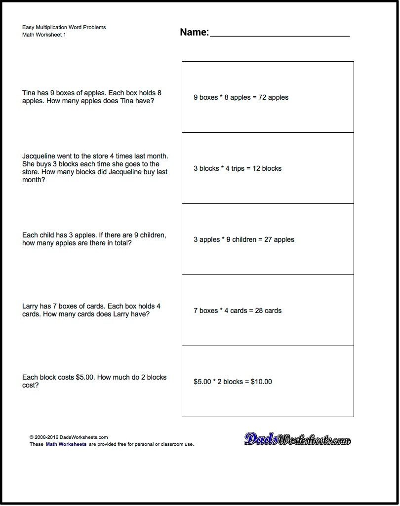 Free Printable Introductory Word Problem Worksheets For Addition For - Free Printable Math Worksheets For Adults