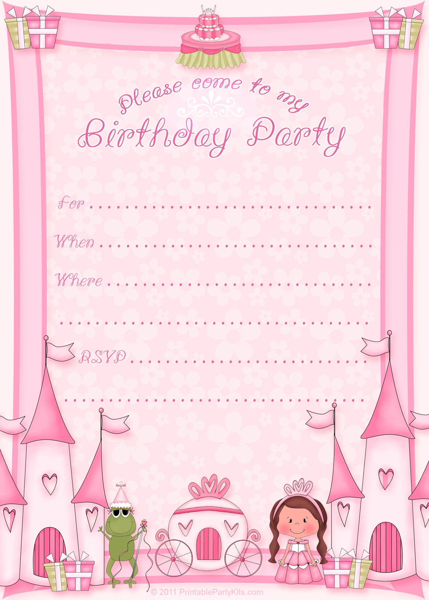 Free Printable Invitation. Pinned For Kidfolio, The Parenting Mobile - Free Printable Princess Invitations