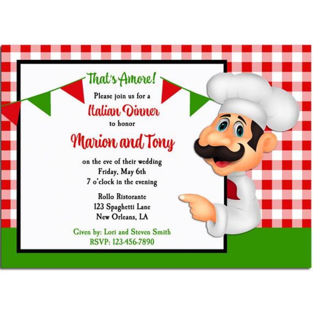 Free Printable Italian Dinner Invitations   Free Printable - Free Printable Italian Dinner Invitations