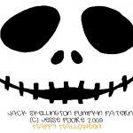 Free Printable Jack Skellington Pumpkin Carving Stencil Templates   Jack Skellington Stencil Free Printable
