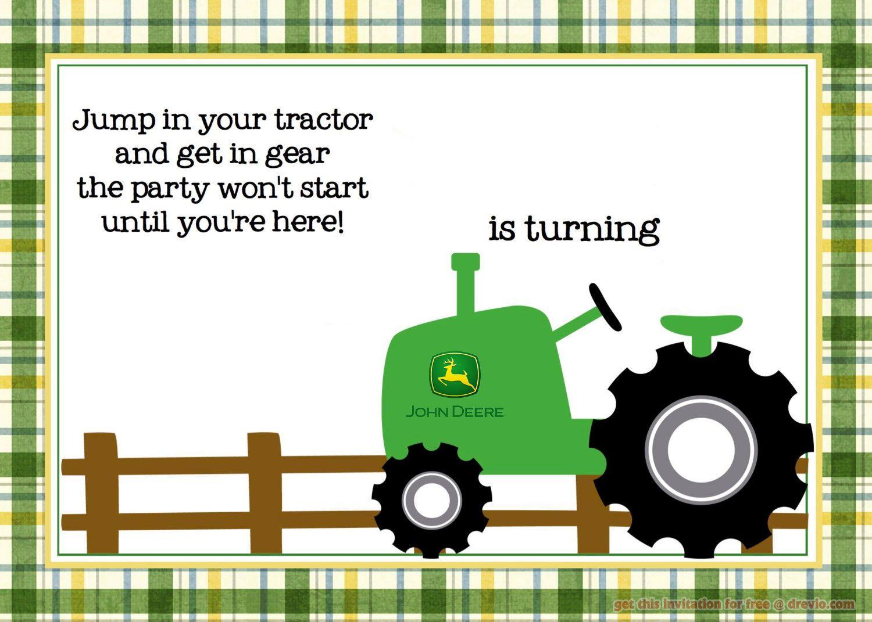 Free Printable John Deere Tractor Birthday - Free Printable John Deere Birthday Invitations