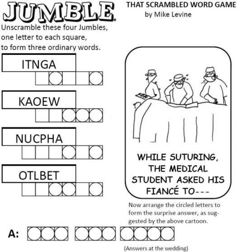 Free Printable Jumble Word Games | Free Printable - Free Printable Jumble Word Games