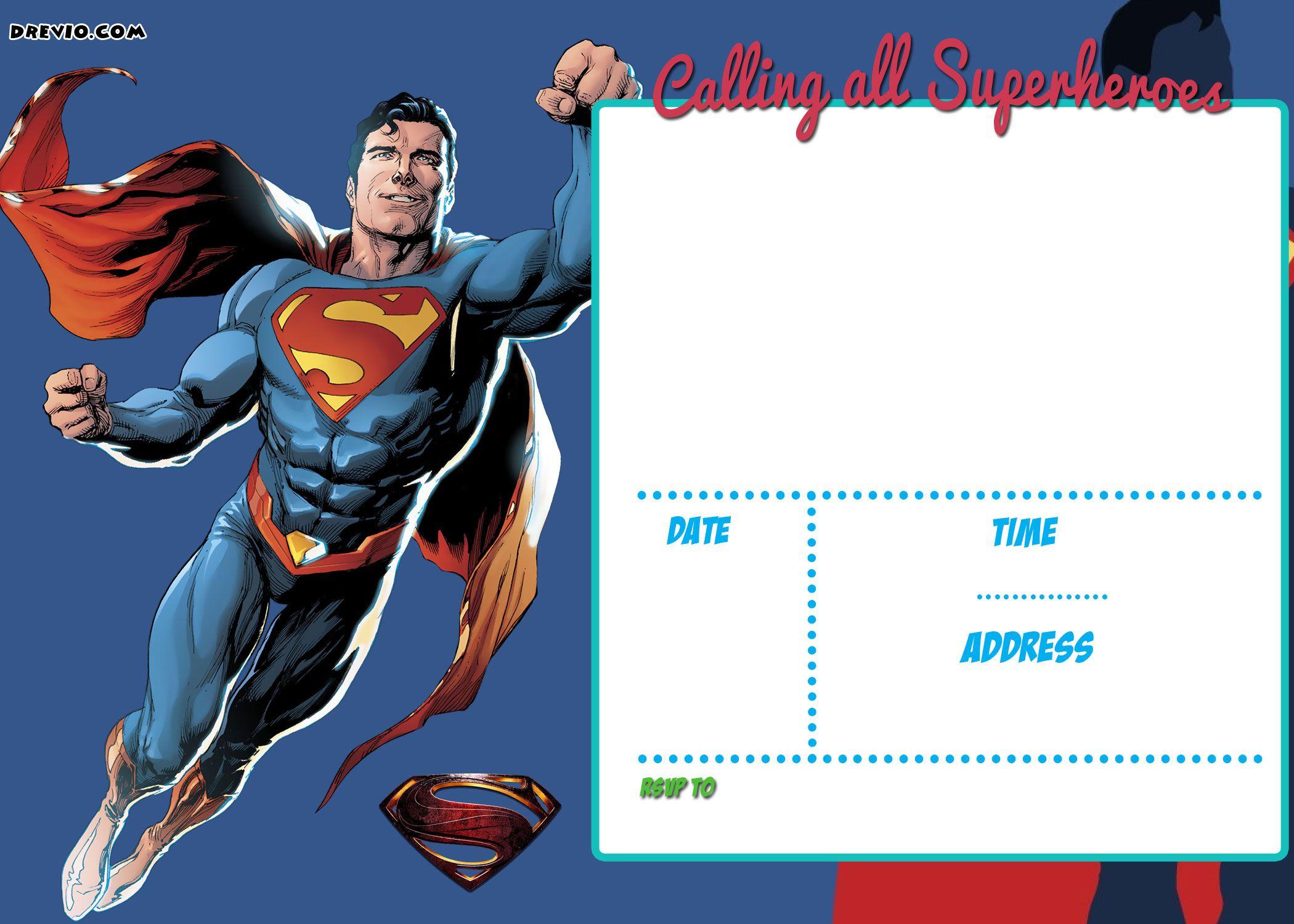 Free Printable Justice League Invitation Template | Free Printable - Free Printable Superman Invitations