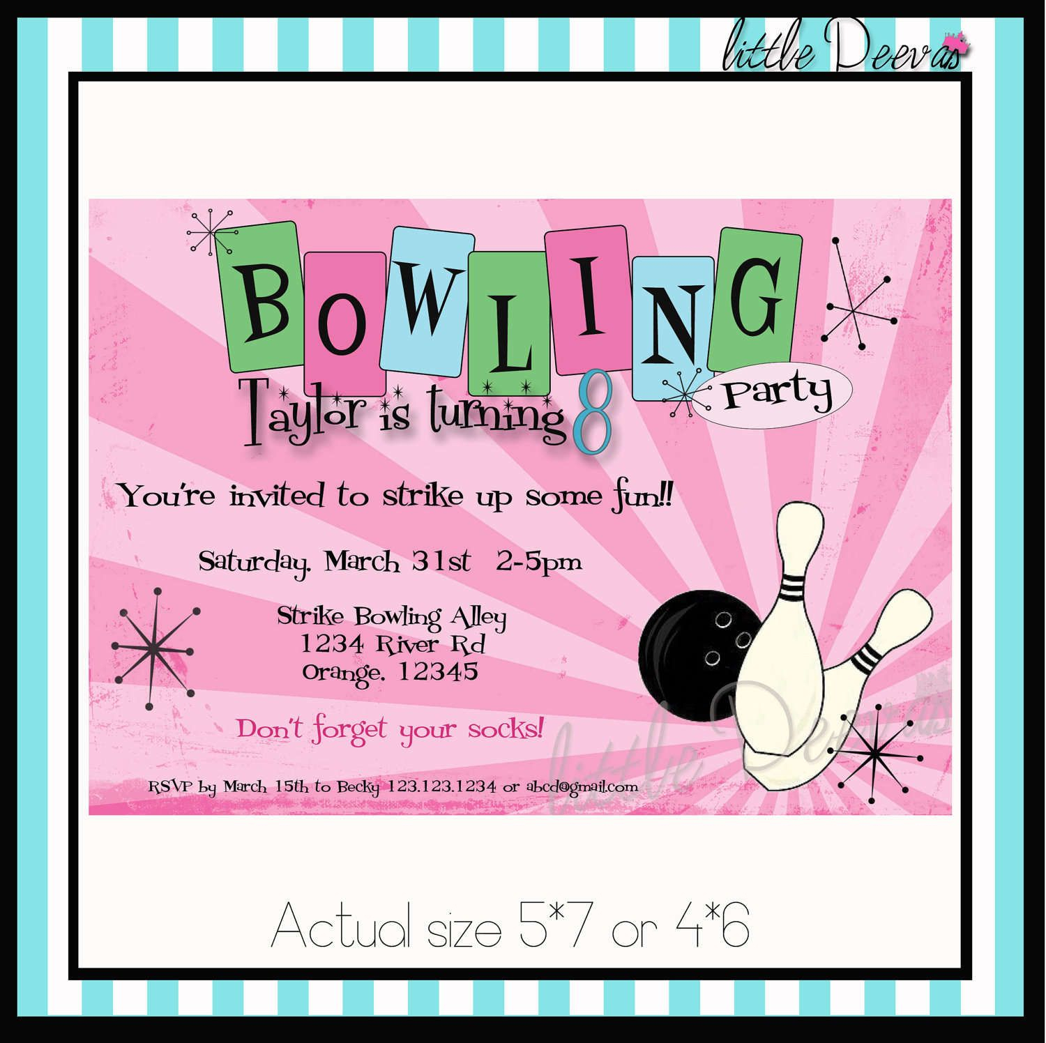 Free Printable Kids Bowling Party Invitations Download Get This - Free Printable Bowling Birthday Party Invitations