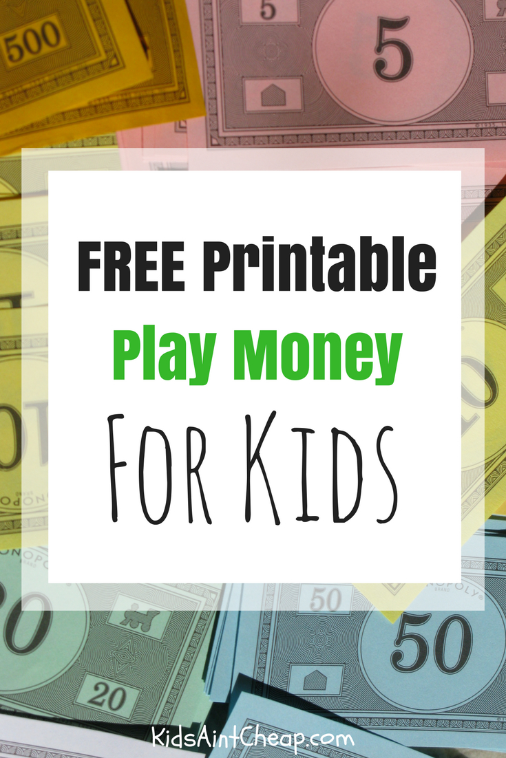 Free Printable Kids Money For Download | Kids Ain't Cheap - Free Printable Play Money
