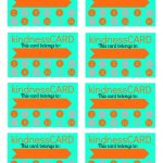 Free Printable Kindness Card For Good Behavior Board. @4Men1Lady   Free Printable Kindness Cards