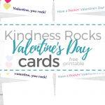 Free Printable Kindness Rocks Valentine's Day Cards   Money Saving   Free Printable Kindness Cards