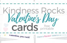 Free Printable Kindness Rocks Valentine's Day Cards – Money Saving – Free Printable Kindness Cards
