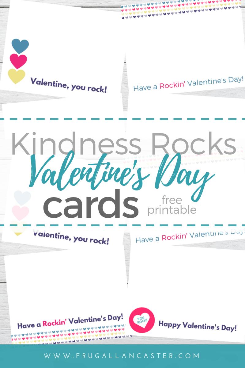 Free Printable Kindness Rocks Valentine's Day Cards - Money Saving - Free Printable Kindness Cards