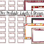 Free Printable Labels: 6 Different Designs   Free Printable Labels