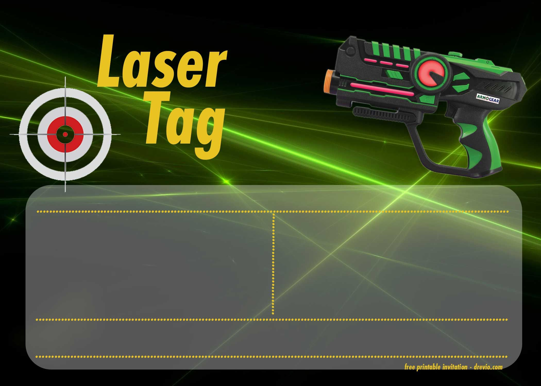 Free Printable Laser Tag Invitation Templates | Boys Party Ideas - Free Printable Laser Tag Invitation Template