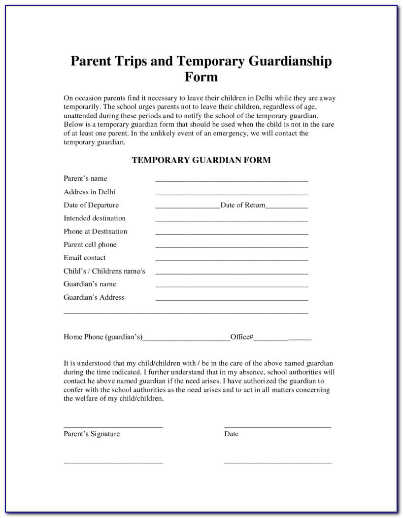 Free Printable Legal Guardianship Forms Florida - Form : Resume - Free Printable Child Guardianship Forms
