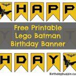 Free Printable Lego Batman Birthday Banner | Bat Birthday   Free Printable Lego Batman