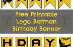 Free Printable Lego Batman Birthday Banner | Bat Birthday - Free Printable Lego Batman