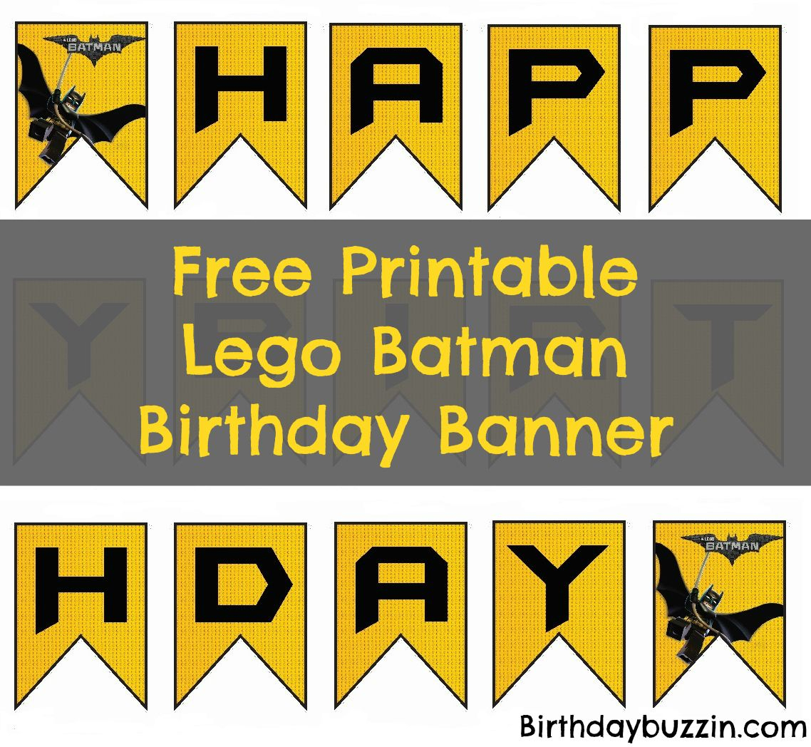 Free Printable Lego Batman Birthday Banner | Bat Birthday - Free Printable Lego Batman