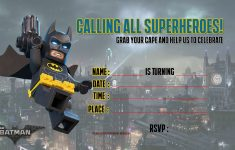 Free Printable Lego Batman The Movie Invitation | Free Printable – Lego Batman Invitations Free Printable