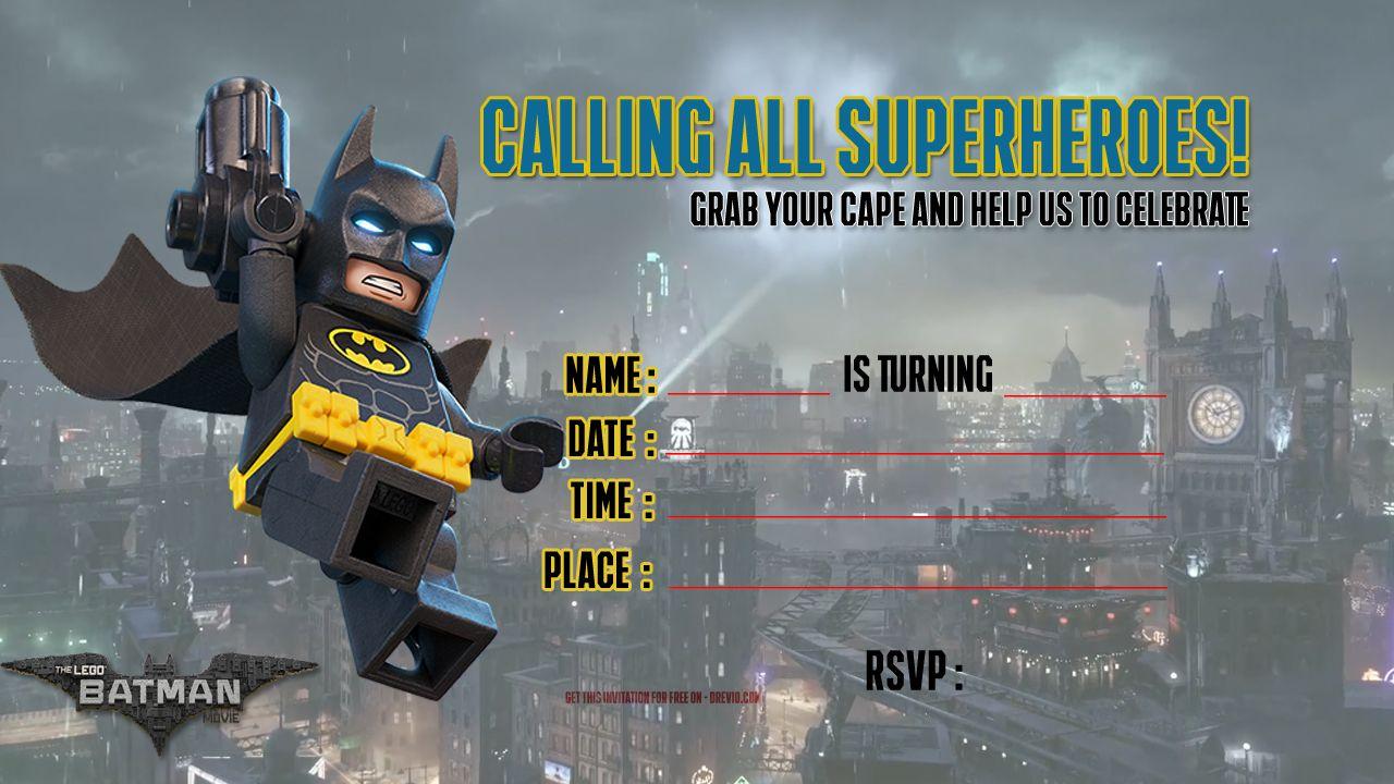 Free Printable Lego Batman The Movie Invitation | Free Printable - Lego Batman Party Invitations Free Printable