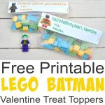 Free Printable Lego Batman Valentine Treat Toppers   Simple Made Pretty   Free Printable Lego Batman