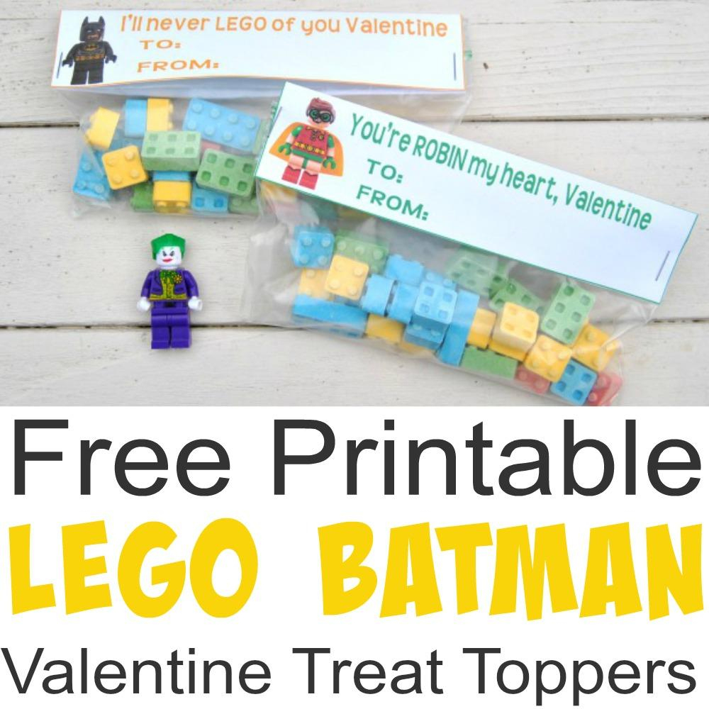 Free Printable Lego Batman Valentine Treat Toppers - Simple Made Pretty - Free Printable Lego Batman