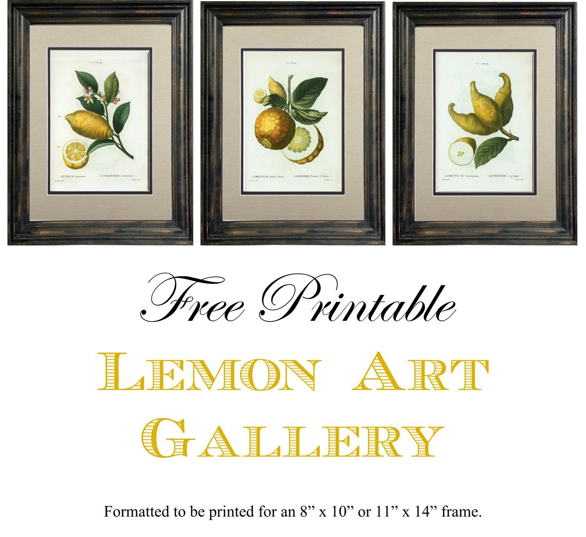 Free Printable Lemon Art - Free Printable Artwork To Frame