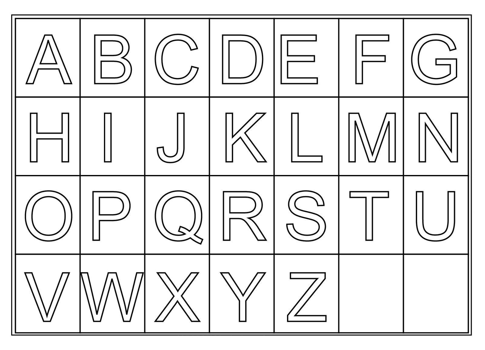Free Printable Letter Displays | - Clip Art Library - Free Printable Alphabet Letters For Display