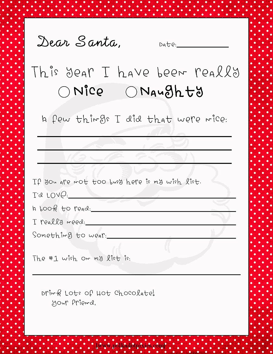Free Printable Letter From Santa Template Collection | Letter Cover - Free Santa Templates Printable