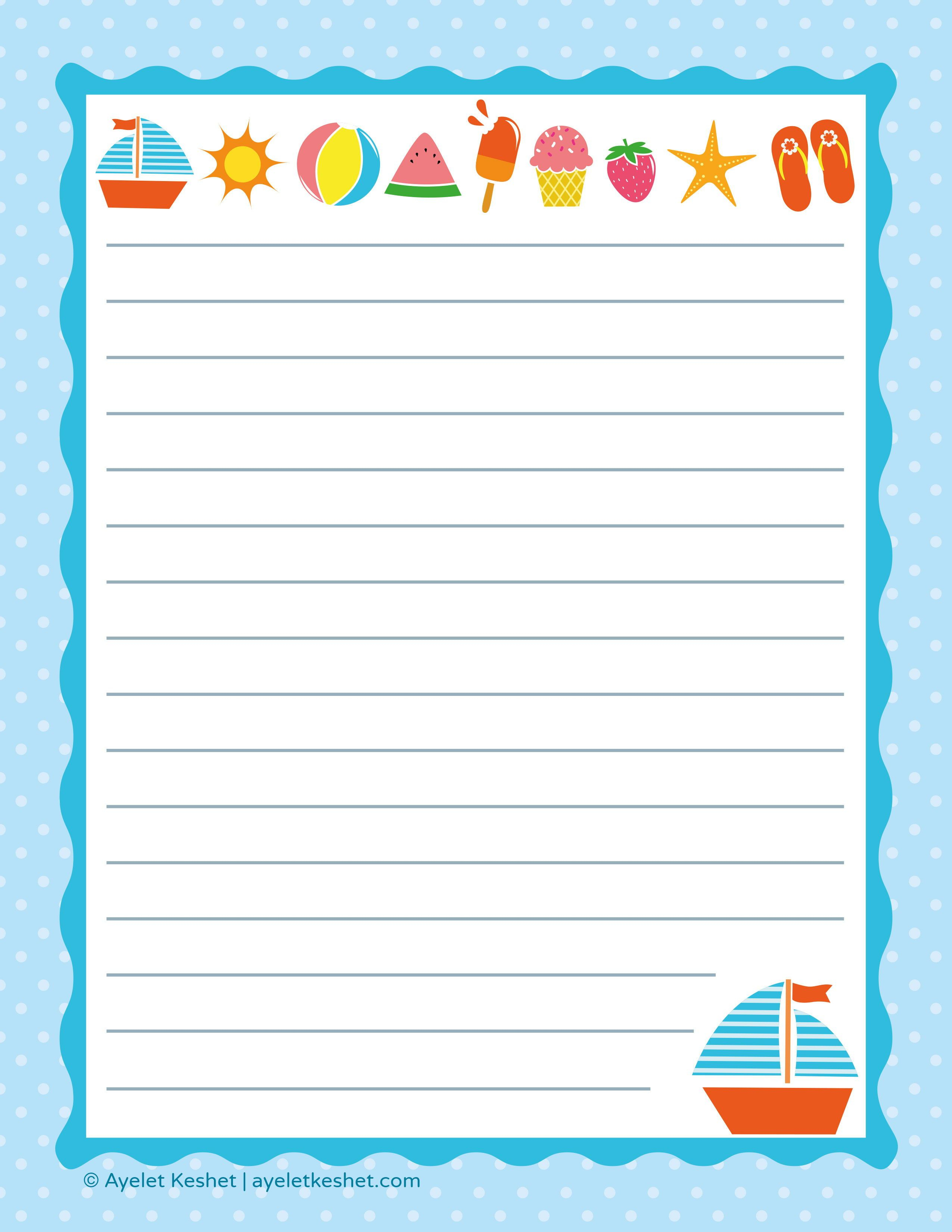 Free Printable Letter Paper | Printables To Go | Pinterest - Free Printable Writing Paper For Adults