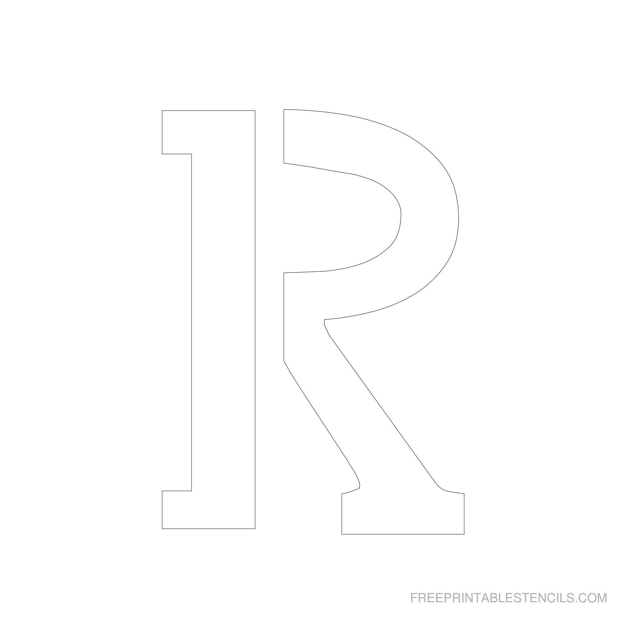 Free Printable Letter Stencils | Free Printable 6 Inch Alphabet - Free Printable 8 Inch Letters