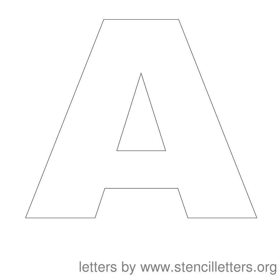 Free Printable Letter Stencils | Stencil Letters 12 Inch Uppercase - Free Printable 12 Inch Letter Stencils