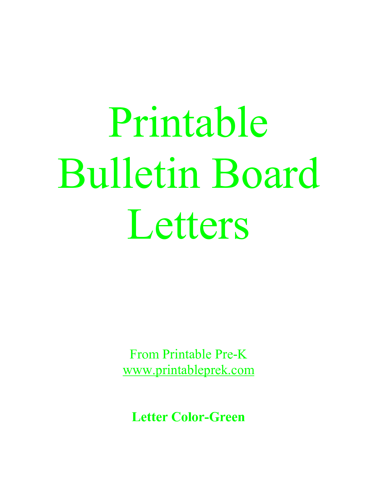 Free Printable Letter Templates For Bulletin Boards | Template To - Free Printable Bulletin Board Letters