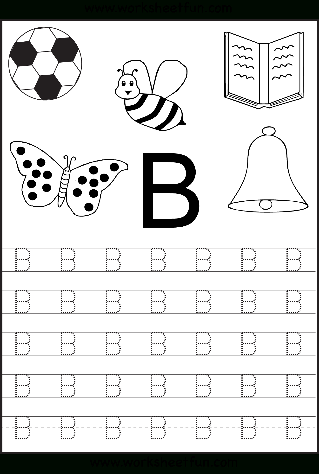 Free Printable Letter Tracing Worksheets For Kindergarten – 26 - Free Printable Alphabet Letters