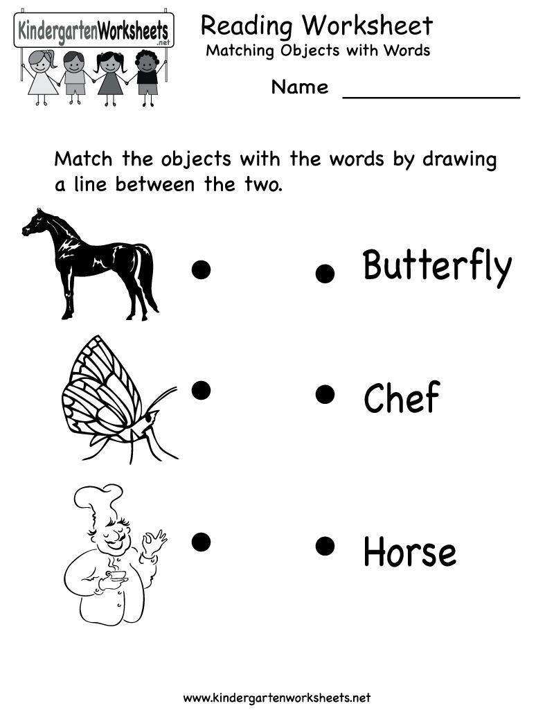 Free Printable Letter Worksheets Kindergarteners | Reading Worksheet - Free Printable Reading Activities For Kindergarten