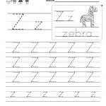 Free Printable Letter Z Writing Practice Worksheet For Kindergarten   Letter Z Worksheets Free Printable