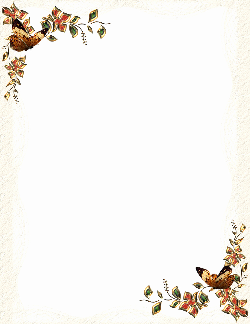 Free Printable Letterhead Borders 7 Best Images Of Free Fall - Free Printable Stationary Borders