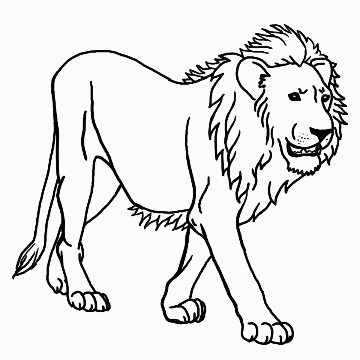 Free Printable Lion Coloring Pages For Kids For Lion Coloring Sheet - Free Printable Picture Of A Lion