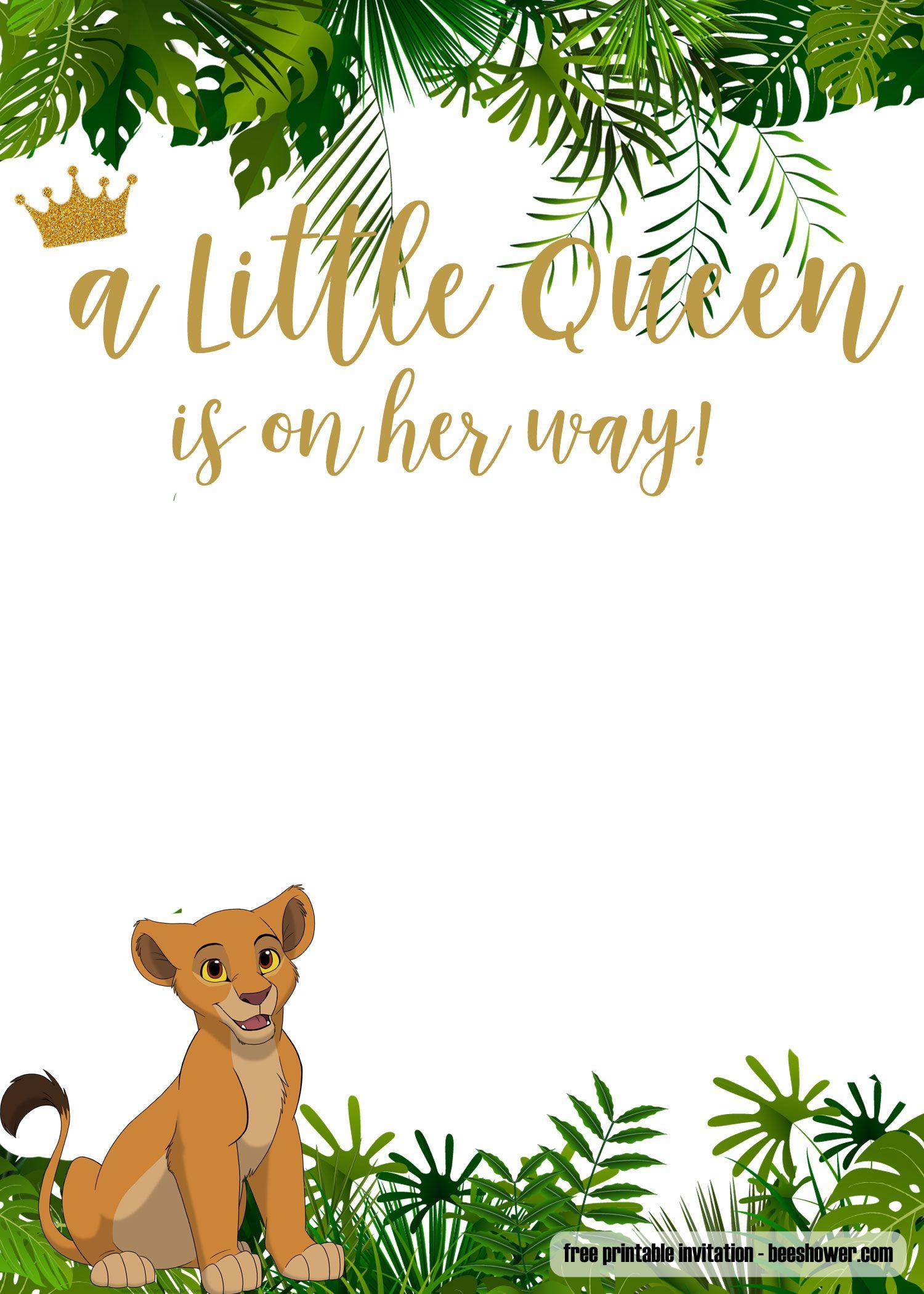 Free Printable Lion King Baby Shower Invitations   Free Printable - Free Printable Lion King Baby Shower Invitations