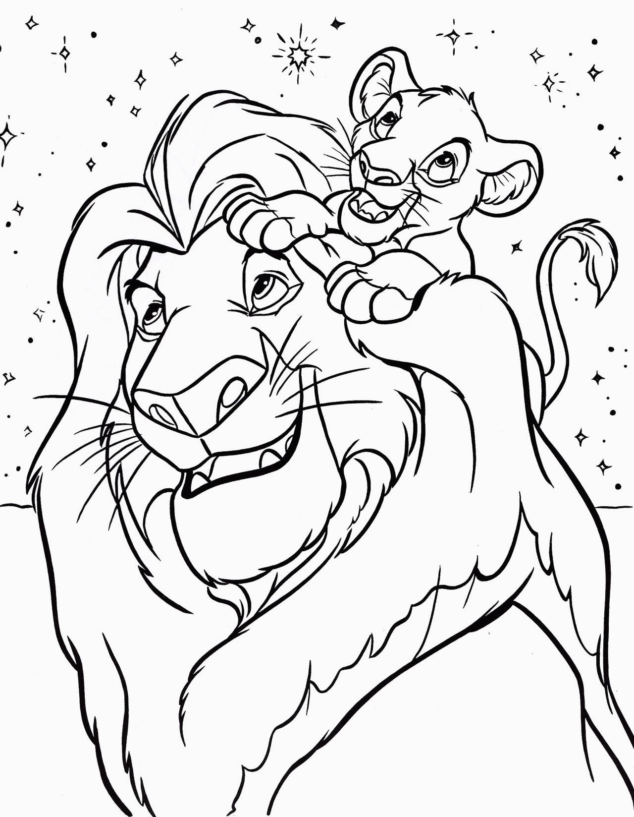 Free Printable Lion King Coloring Pages | Printable Coloring Pages - Free Printable Picture Of A Lion