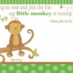 Free Printable Little Monkey Birthday Invitation | Free Printable   Free Printable Monkey Birthday Party Invitations