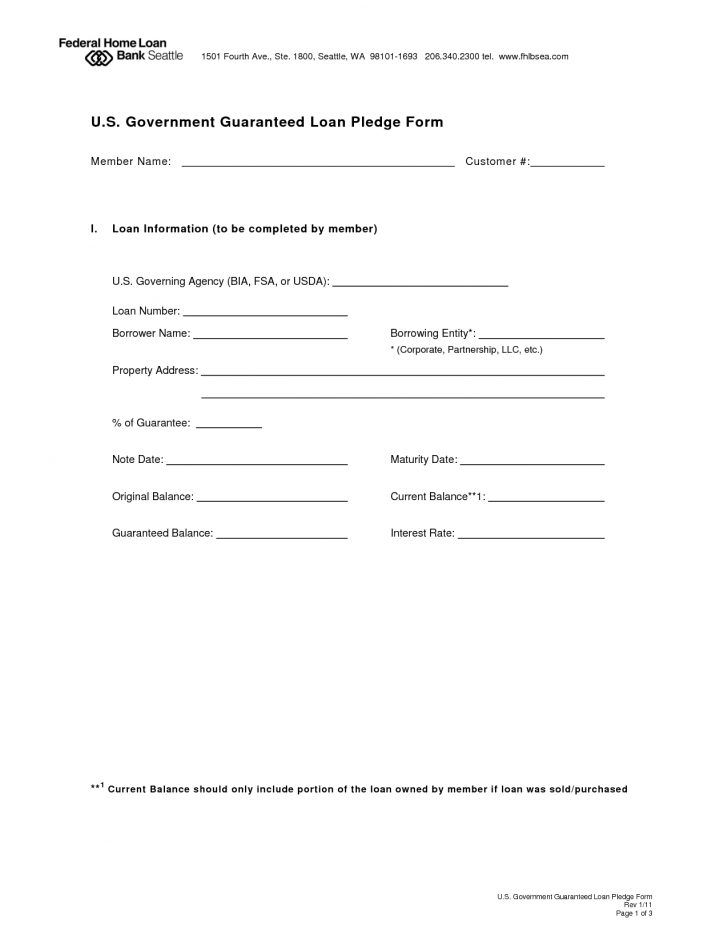 Free Printable Loan Forms