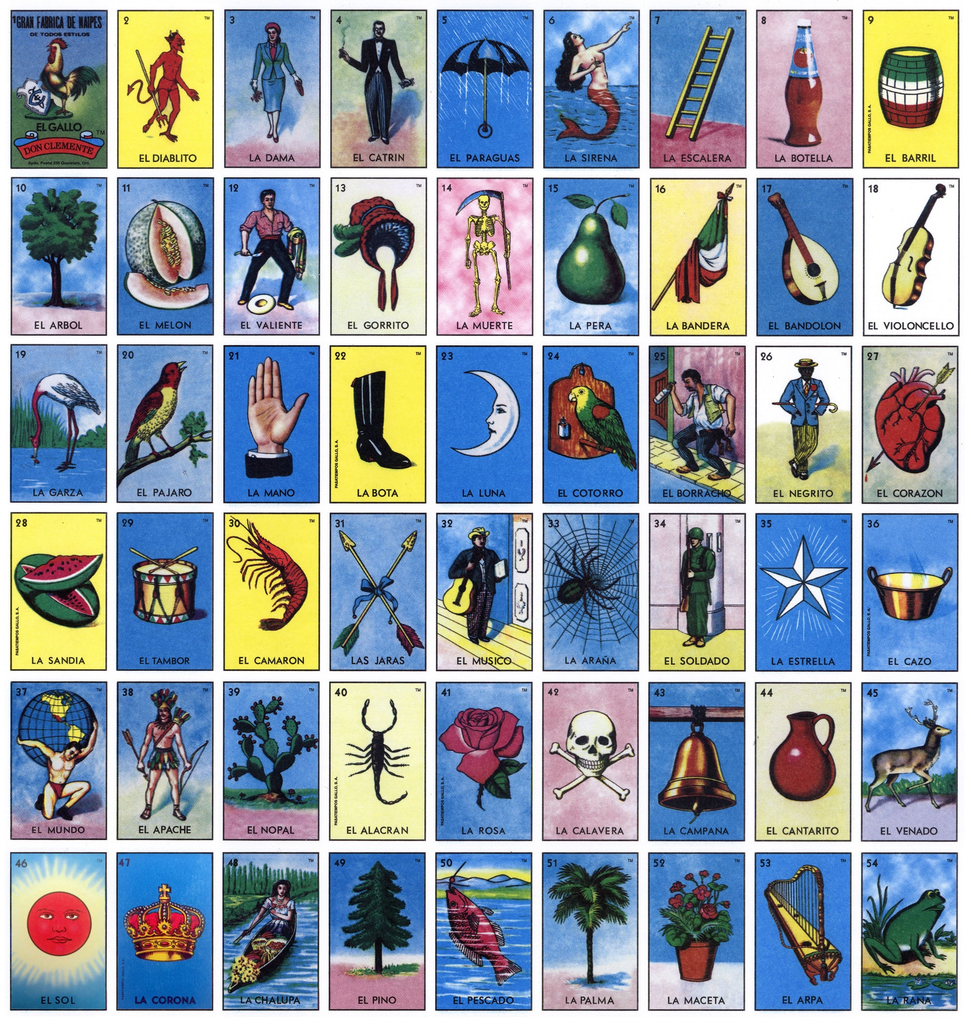 Vibrant image with printable loteria cards pdf