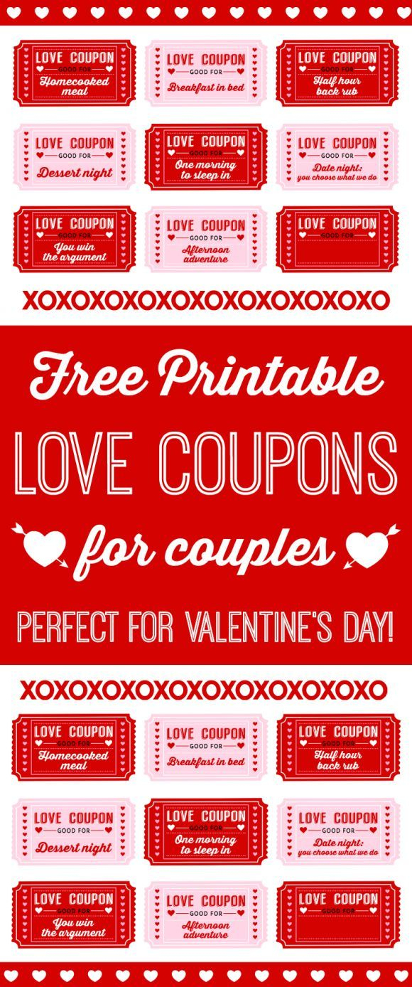 Free Printable Love Coupons For Couples On Valentine's Day! | Blog - Free Printable Coupons For Husband