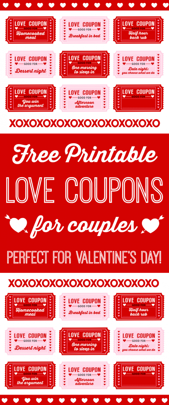 Free Printable Love Coupons For Couples On Valentine's Day - Free Printable Love Coupons For Wife