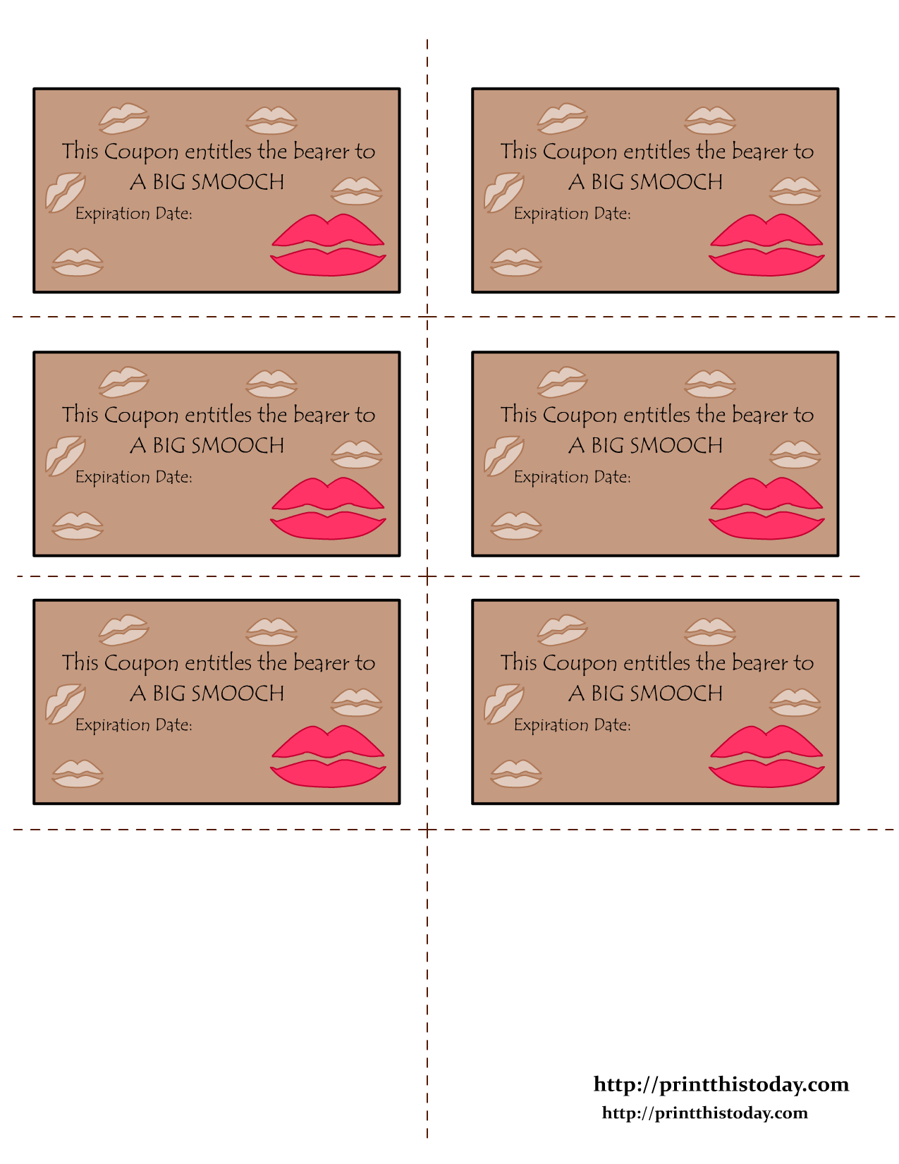 Free Printable Love Coupons - Free Printable Love Certificates For Him