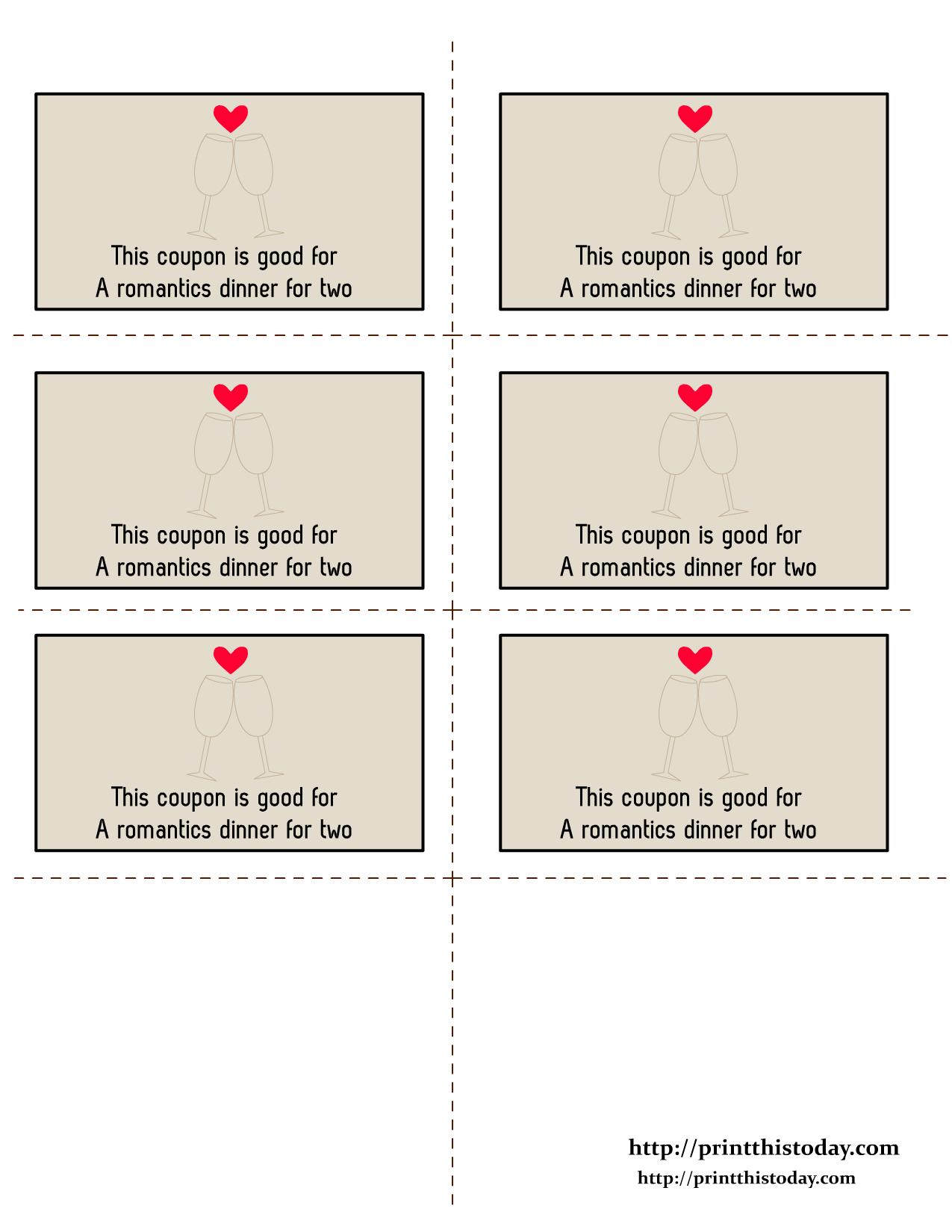 Free Printable Love Coupons - Free Printable Love Coupons For Wife